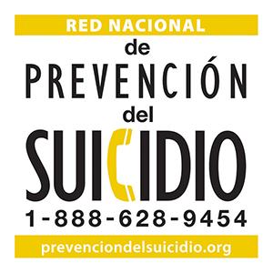 de Prevencion del Suicidio: 1-888-628-9454