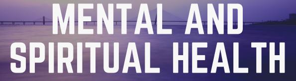 Text saying: Mental and Spiritual Health