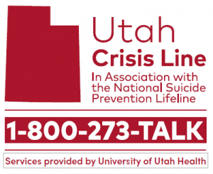 Utah Crisis Hotline Logo and Number: 1-800-273-8255