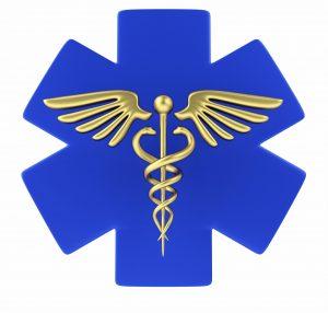 Blue first responder logo